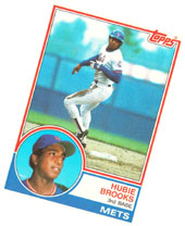 My Hubie Brooks baseball card