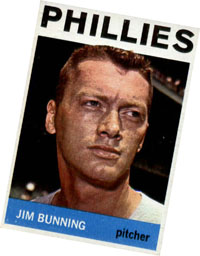 Jim Bunning baseball card