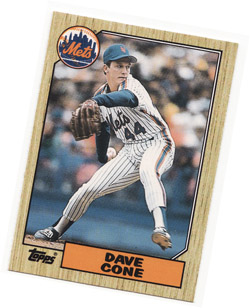 My David Cone baseball card