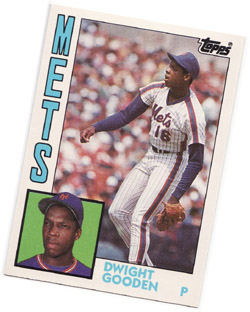 My Dwight Gooden baseball card