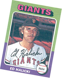 Ed Halicki baseball card