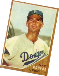 My Sandy Koufax baseball card