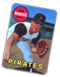 Bob Moose baseball card